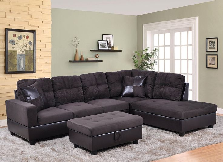 Fresh Amazon LifeStyle Microfiber Left Facing Sectional Sofa Set with Free Storage Ottoman Lovely - Cool sectional sofa sets