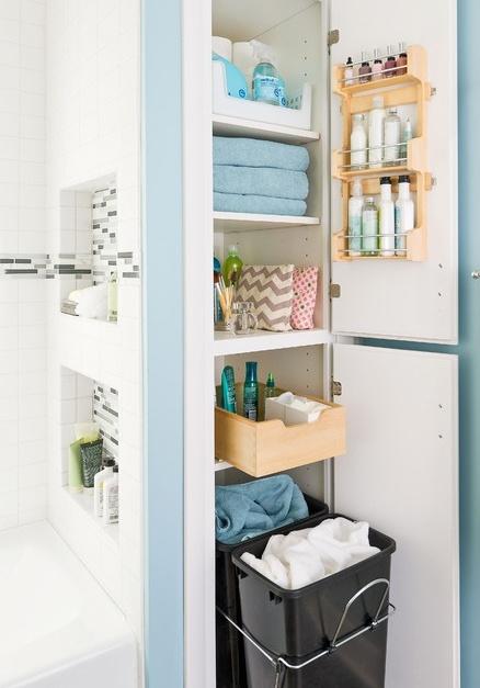 Beépített fürdőszobai szekrény