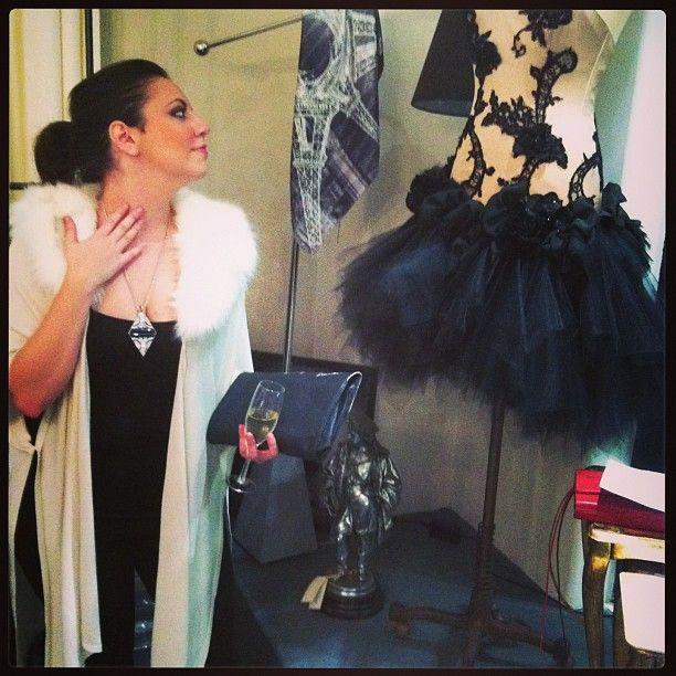 @Rachel Knutson admiring a perfect confection #frenchrendezvous #unsoirausalon #jamesst  Instagram photo by @haplesstraveller (Vicki Montague) | Statigram