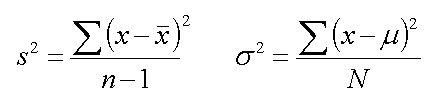 Variance formulas | Lean Six Sigma Bord | Pinterest