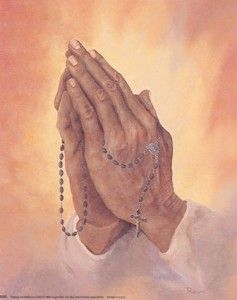 Praying hands with Rosary Picture