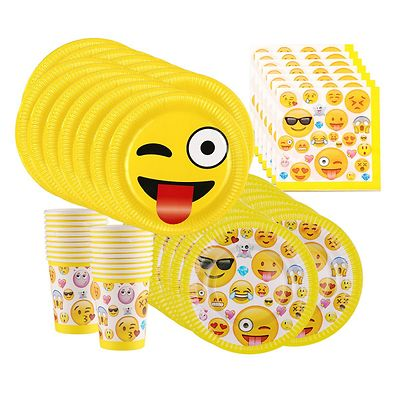 emoji Birthday Party Supplies Bundle, Pack for 16