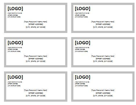 shipping label templates