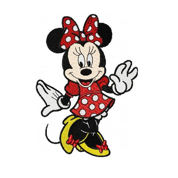 Minnie Mouse Embroidery Design in Two Sizes - INSTANT ...