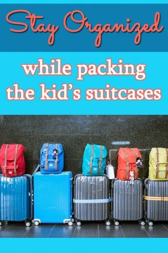 Packing can be sooooo hard when you have kids. Use these brilliant tips to stay organized when packing the kid's suitcases!