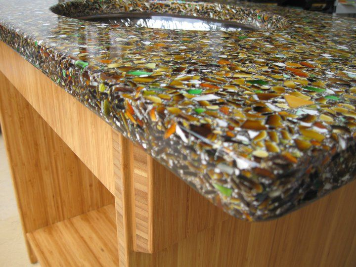 19 Best Recycled Glass Countertops Images On Pinterest