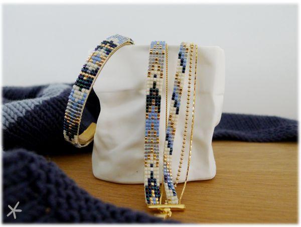 bracelets en perles tissées