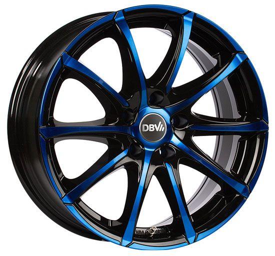 DBV Tropez Felgen schwarz blau Alufelgen Shop DBV Felgen Online Shop