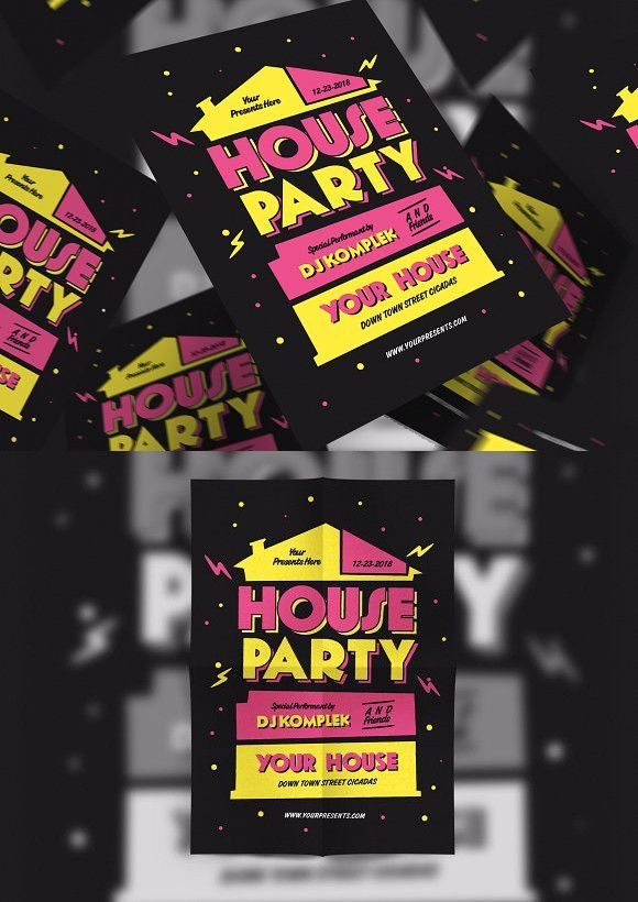 House Party Flyer Templates