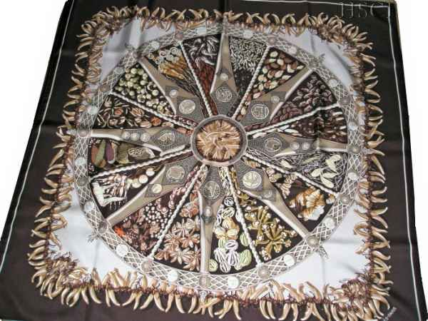 """Aux Pays des Epices (from <a href=""""http://piwigo.hermesscarf.com/picture?/3837/category/143-brown"""">HSCI Hermes Scarf Photo Catalogue</a>)"""