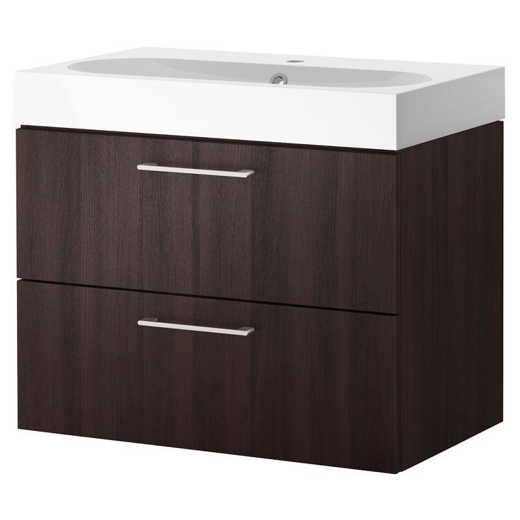 Black Kitchen Sink Ikea: GODMORGON / BRÅVIKEN Sink Cabinet With 2 Drawers, Black