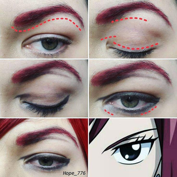 Erza scarlet makeup tutorial  #cosplay #cosplayer #cosplaymakeup #косплей…