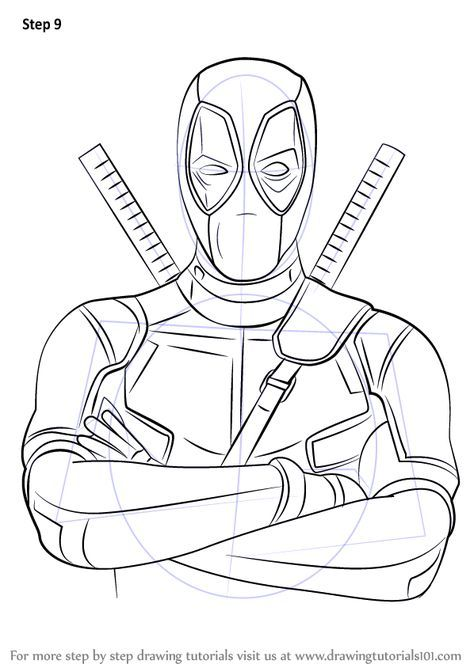 Learn How to Draw Deadpool (Deadpool) Step by Step ...