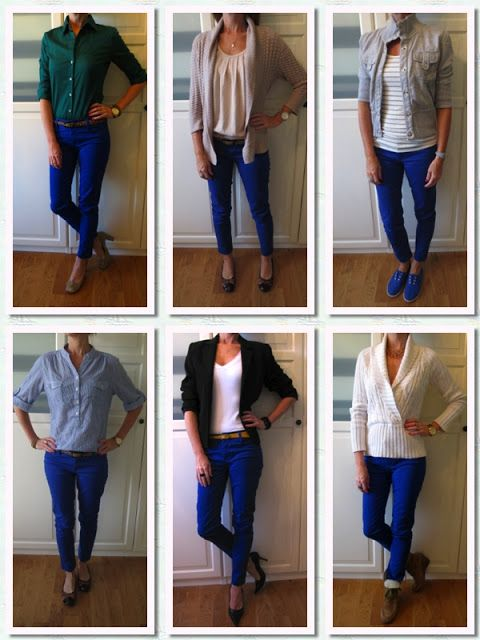 I never know what to wear with my blue pants!
