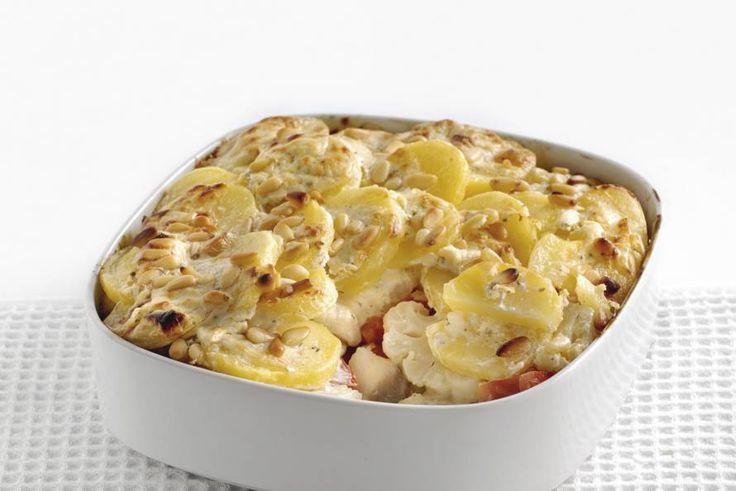 Ovenschotel met witvis en Boursin Cuisine - Recept - Allerhande