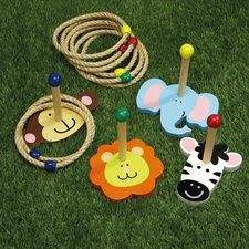 Zoo Animal Ring Toss Game - Could I make something like this....cheap?