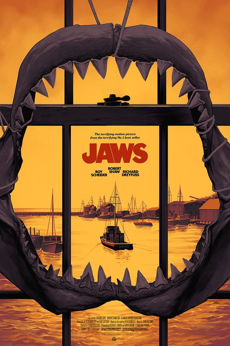 Jaws Variant Movie Poster Screen Print by Phantom City Creative x Mondo
