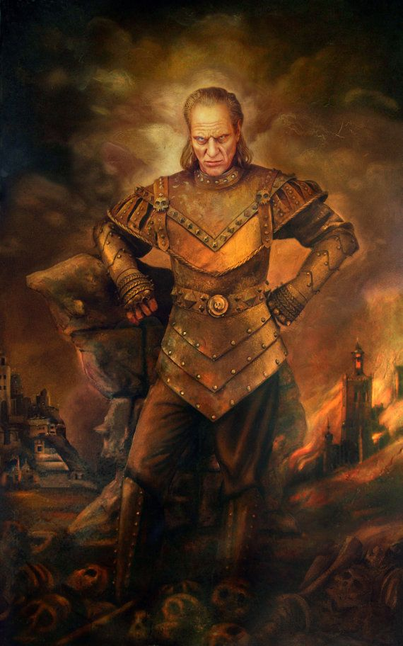 Get this awesome painting of Vigo the Carpathian on your wall and have your piece of iconic 80s movie history.  Printed on very high quality canvas made