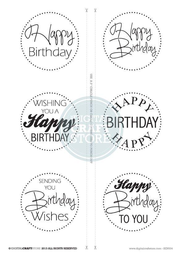 Birthday - Digi Stamp - Digital Craft Store