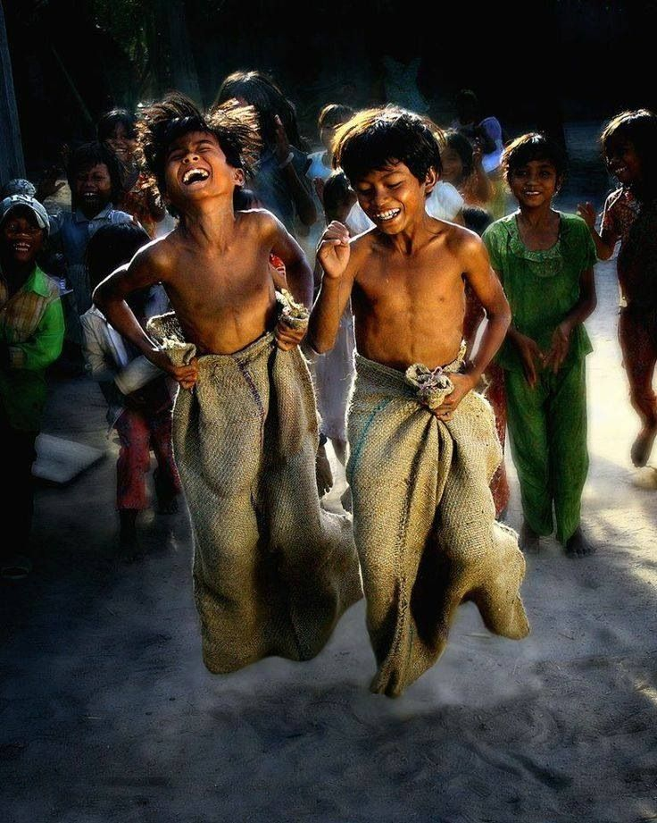 Bangladesh..children laughing and playing anywhere is a beautiful thing ! Look at those happy faces ! <3