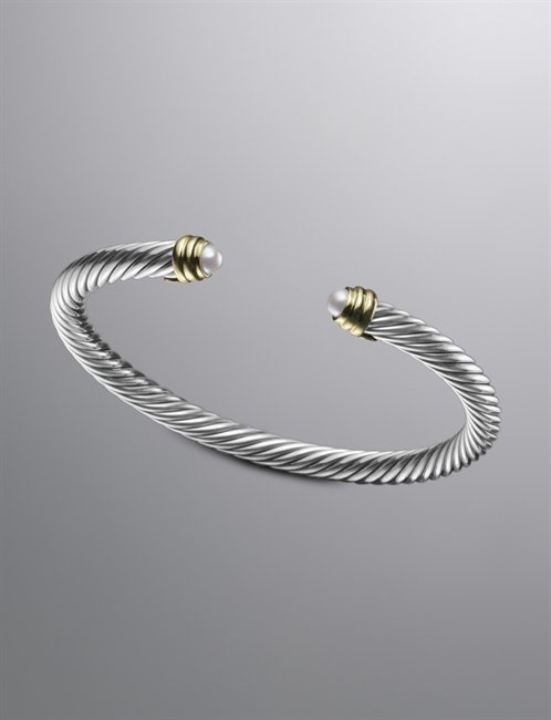 David Yurman | Women | Bracelets: 5mm Pearl Cable Classics Bracelet, Small