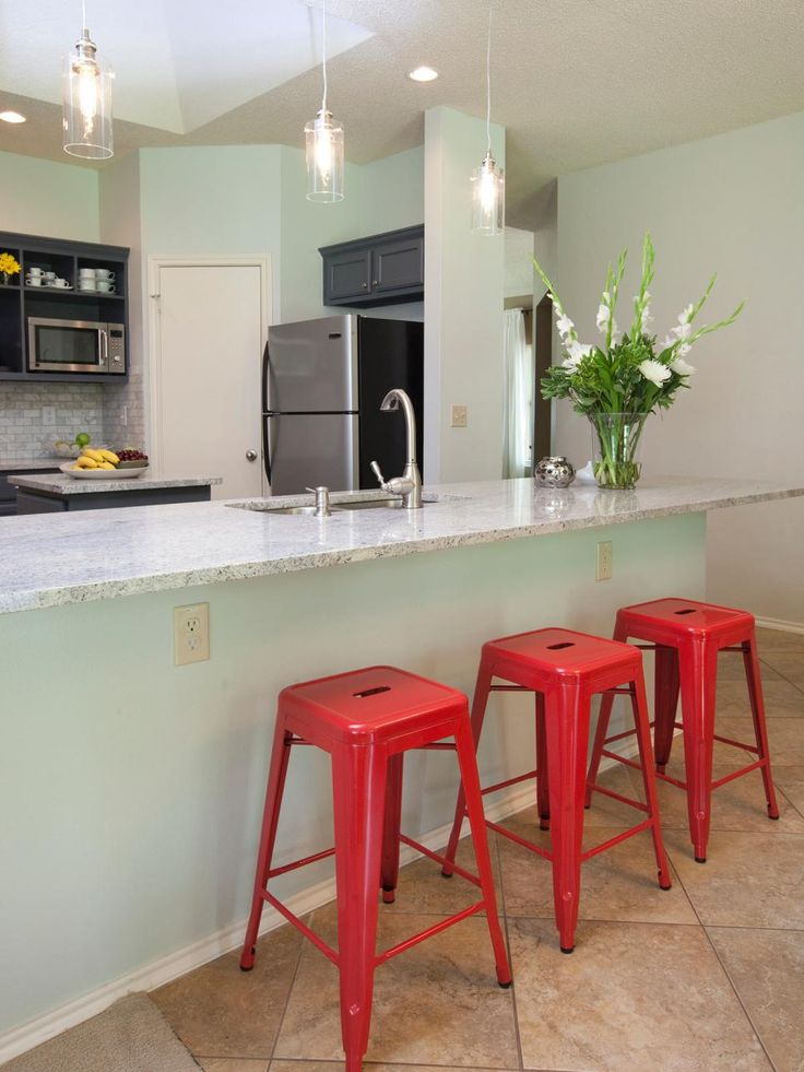 This Modern Mint Green Kitchen Showcases All Over Soft