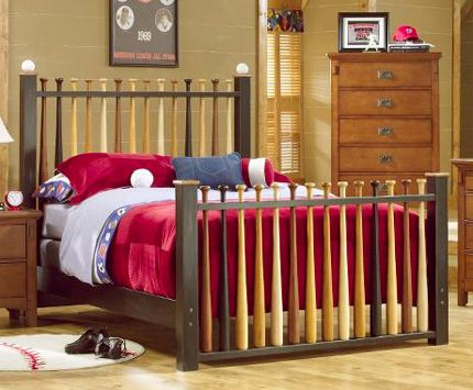 boys bed  - with the baseball wall?? Would be super cool. I would love this