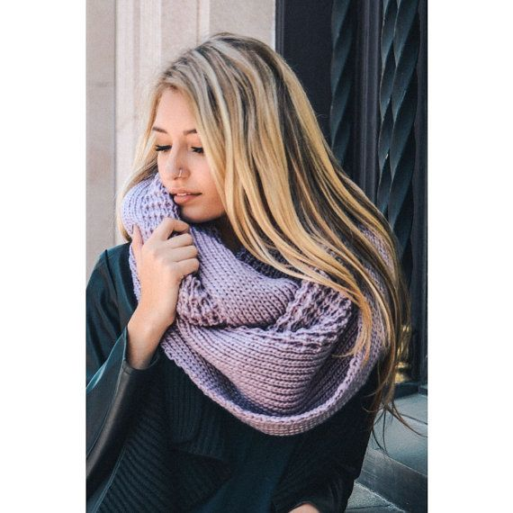 oversized chunky knitted infinity scarf large by Dailyaccessoriez-Want the rose one