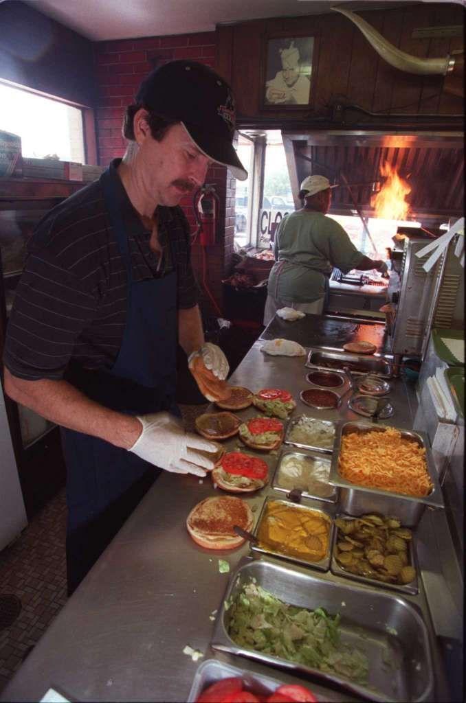 Bellaire Broiler BurgerSpecialty burger ex.: Bellaire SpecialTwo 1/4 LB. beef…