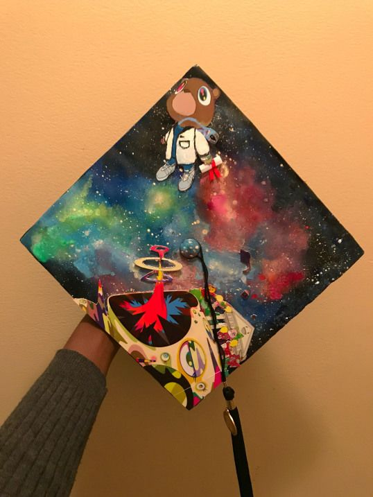 Instagram: @ayyekay_47.  #kanyewestgraduationcap #arteducation #art #education #graduation
