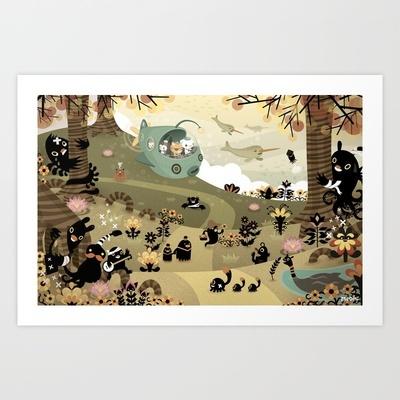 The Octonauts Sea of Shade Art Print by Meomi - $15.00