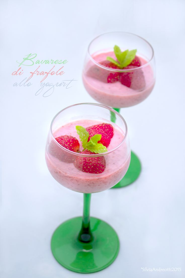Bavarese di fragole light allo yogurt (vegan)