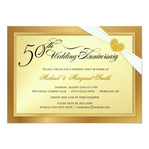 Th wedding anniversary surprise party invitation