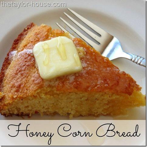 Honey Corn Bread Recipe    by thetaylor-house #Bread #Corn #Honey