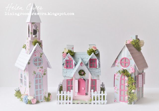 Tim Holtz's Sizzix Village Cottage Dwelling/Brownstone Houses with Craft…
