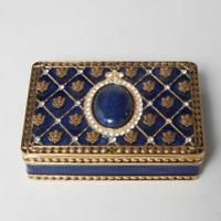 ANN HAND PRESIDENTIAL COLLECTION BOX WITH LAPIS, BLUE ENAMEL, SWAROVSKI CRYSTALS