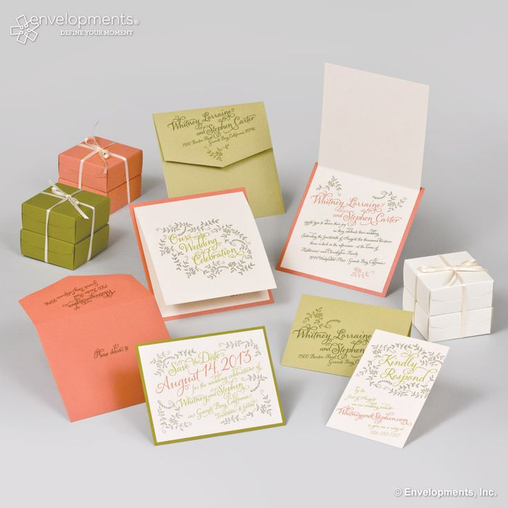 handwrite or print wedding invitation envelopes%0A Wedding Invitation    Pink and green in for spring