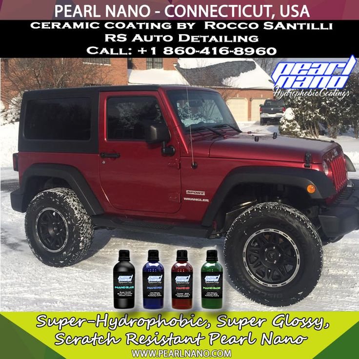 Jeep Wrangler Coated with Pearl Nano Coating by RS Auto Detailing - Connecticut, USA   This Jeep Wrangler received a 2 step paint correction then 3 coats of Pearl Nano ceramic coat. Never wax your car again. Pearl Nano Coating by Rocco Santilli @ RS Auto Detailing. For Interested Distributors and Dealers of Pearl Nano please contact Dave: Dave@PearlUSA.net or Call: 808 779–7163. Visit Pearlnano.com for more information. #pearlnano #roccosantilli #ceramiccoating