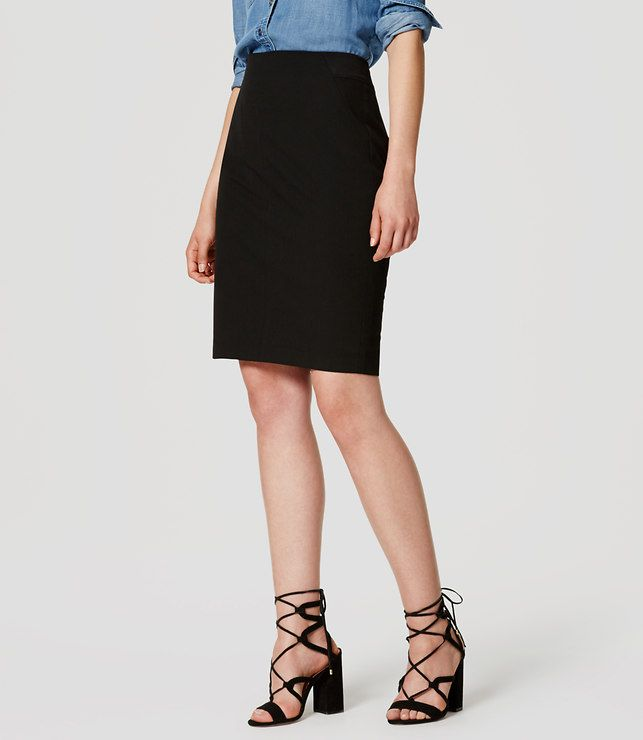 LOFT Petite Curvy Custom Stretch Pencil Skirt