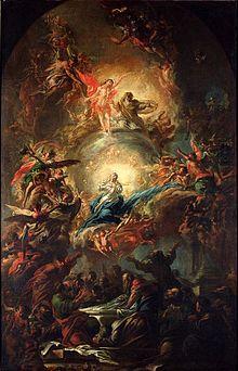 Nanebevzetí PM/ obraz pro hl. oltář - Osek / 1696