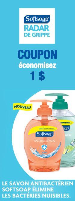 Coupon pour nouveau savon Softsoap. http://rienquedugratuit.ca/coupons/savon-softsoap/