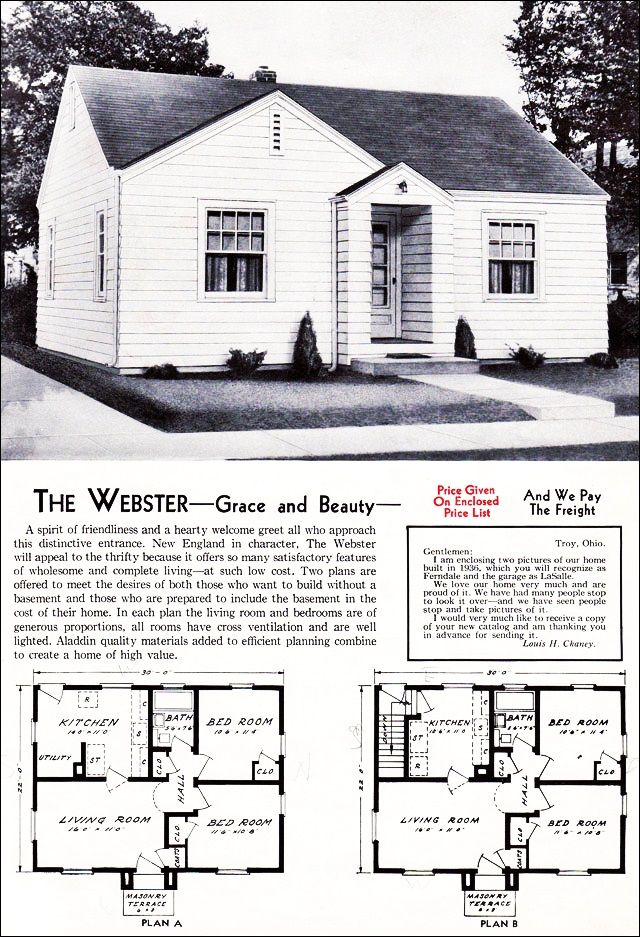 The Webster Kit House Floor Plan from