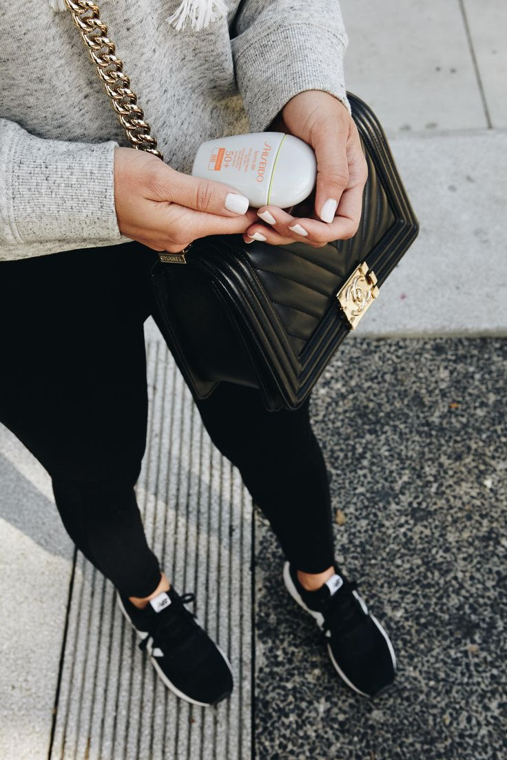 Black New Balance Shoes and Leggings