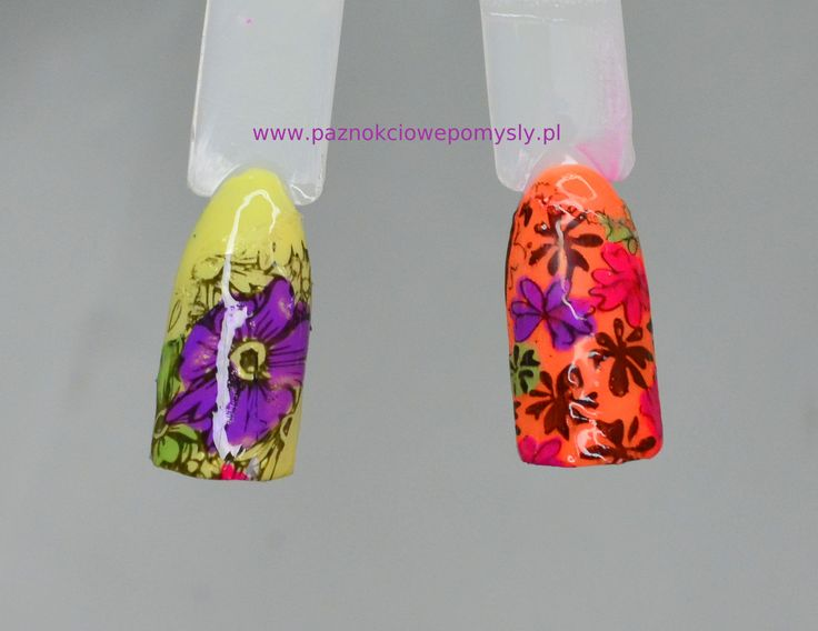 kolorowe stemple na paznokcie