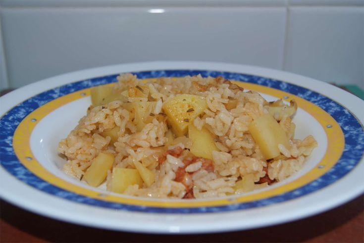 Arroz con chorizo y patatas