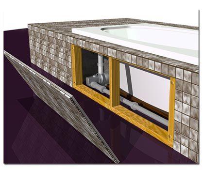 Magnetic Plumbing Access Panel Amazingly Seamless When