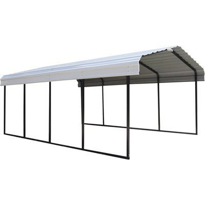 Arrow Steel Carport — 20ft.L x 12ft.W, Model# CPH122007