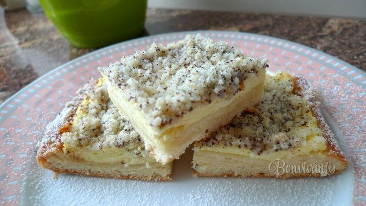 Tvarohový koláč s makovou drobenkou • recept • bonvivani.sk
