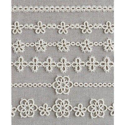 Tatting Lace 6 Patterns -Braid- Japan Clover Motif Instructions 2 shuttles use   Rummage