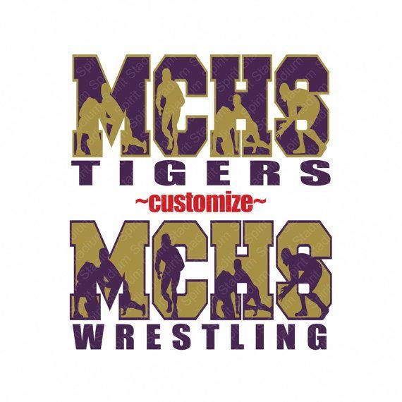 Wrestling Shirt Team School Mascot Custom Spirit by SpiritStadium